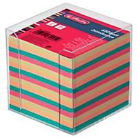Notizzettel-Box Herlitz 01600147, mit 650 Blatt bunt, Maße: 9x9cm, transparent