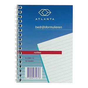 Jalema Atlanta A206012 spiraal notitieboekje, 148 x 105 m, gelijnd, 50 vellen