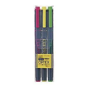 제브라 OPTEX 형광펜세트 3개입(노랑/분홍/연두) (10개 구매시 다스구성)