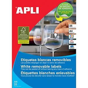 Caja de 2000 etiquetas removibles Apli 10199 - 35,6 x 16,9 mm - blanco