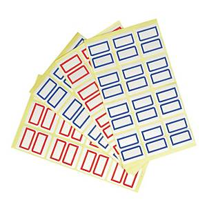 Tack Index Stickers Blue 7 X 18mm - 18 Stickers X 10 Sheets