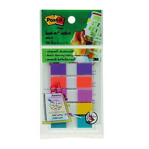 POST-IT 683-5CFB FLAGS 0.5  X 1.7  - 5 COLOURS - 125 FLAGS
