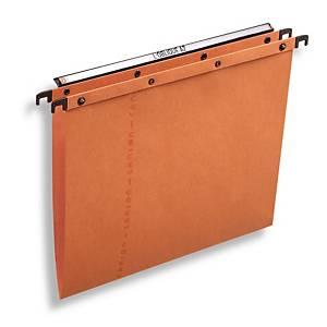 Dossiers suspendus Elba AZO Ultimate® pour tiroirs, 380/250, fond V, orange, 25x