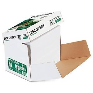 Papier à copier Discovery A4, 75 g/m2, blanc, Cleverbox de 2 500 flles volantes