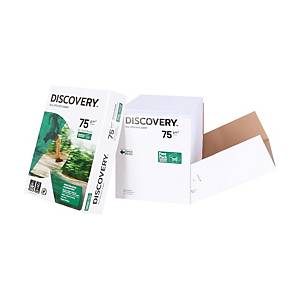 Copy paper Discovery A4, 75 g/m2, white, Cleverbox of 2 500 sheets