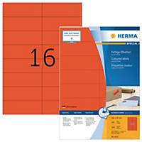 Étiquettes colorées Herma 4257, rouges, 105 x 37 mm, les 1.600 étiquettes