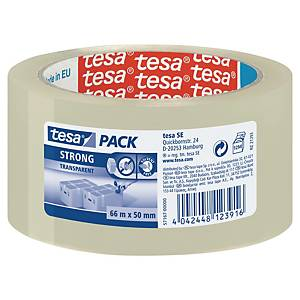 tesapack® STRONG Packband, 50 mm x 66 m, transparent