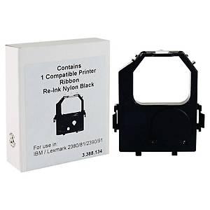 Cinta matricial de nailon compatible para Lexmark 2380/2390/2480/2490 - negro