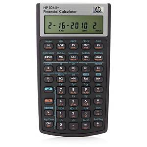Finanskalkulator HP 10BII+, sort, 10 sifre