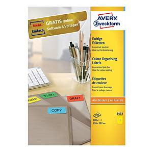 Avery 3473 Labels, 210x297mm, yellow