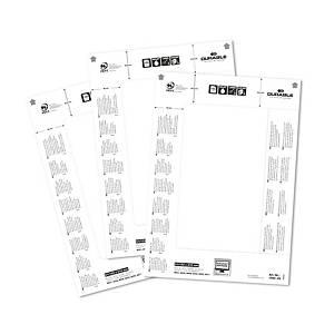 Étiquettes de rechange Durable 1460, 61 x 210 mm, blanc, paq. 20unités