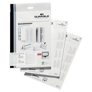 Durable 1460 insteekkaartjes voor aluminium naambordje 8202, pak van 20