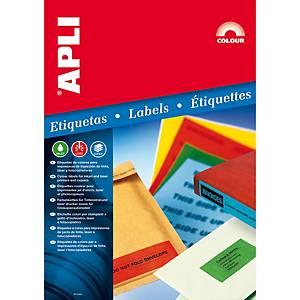 Embalagem 100 etiquetas para pasta arquivo Apli 1233 - 190 x 61 mm - branco