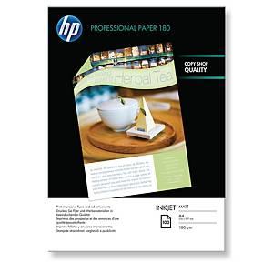 InkJet Papier HP Professional Q6592A A4, 180 g/m2, matt, Pack à 100 Blatt