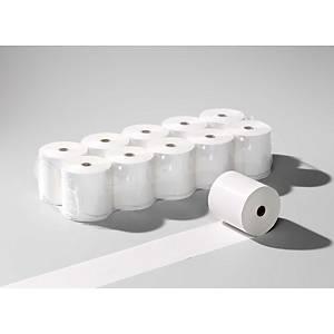 Rouleau télex 208x100 mm x 95 m, 1 x 100 diamètre, blanc