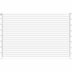 Papier listing A4 obl. 1/6   simple, recyclé, 70 gm2, gris emb. de 2000 flles.