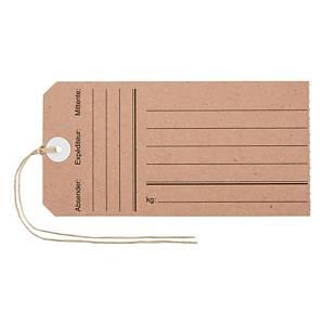Anhänge-Etiketten Biella Manila 563130, 60x120mm mit Druck, braun, Pack à 10 Et.
