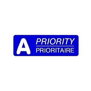 Etiquettes postales A Prioritaire, 45x15 mm, bleu, distributeur de 500 pces.