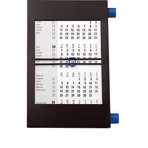 Tischplaner Simplex 50013, 3 Monate pro Seite, Kunststoff, schwarz