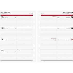 Plans hebdomadaires idé Timing 1, A5, complet, 4 langues