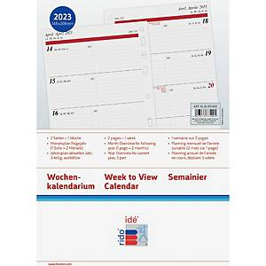 Plans hebdomadaires Rido idé Timing 1, A5, complet, 4 langues