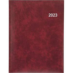 Agenda Biella Orario 809301, 1 Woche auf 2 Seiten, mit Registerschnitt, bordeaux