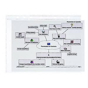 Klarsichthülle Time/system Business 10623, A5, Packung à 5 Stück