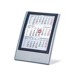 Tischplaner 5039, 3 Monate pro Seite, Kunststoff, anthrazit/schwarz