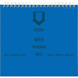 Planificateur hebdomadaire Biella SP21108 Wer-Wann-Wo, 1 semaine par page