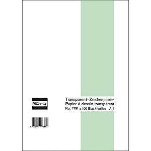 Transparentpapier Favorit A4, 65 g/m2, Block mit 100 Blatt