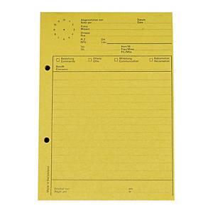 Telefonblock Elco A5, mit Uhr, 65 g/m2, 80 Blatt, gelb