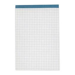 Bloc-notes A6, 65 g/m2, 4 mm quadrillé, 100 feuilles