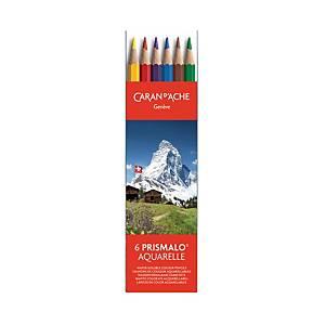 Crayons de couleur Caran d Ache Prismalo I, ens. 6 dans boîte en plastique