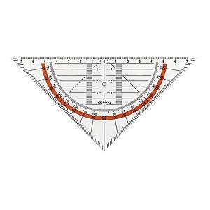 Équerre géométrique Rotring Centro, 16 cm, transp.