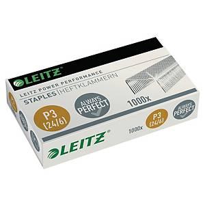 Agrafes Leitz Power Performance P3 24/6, galvanisées, 30 feuilles, 1.000 agrafes