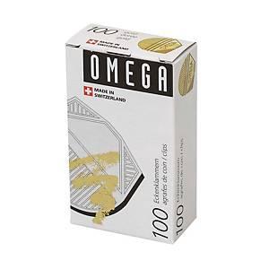 Coins de lettre Omega, dorés, emb. de 100 pcs