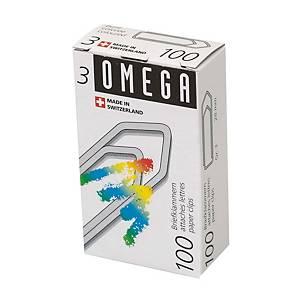 Trombones Omega 3/100 Ø 28 mm, couleurs assorties, emb. de 100 pcs.