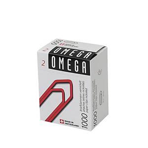 Büroklammern Omega 2/1000, 24 mm, Packung à 1000 Stück