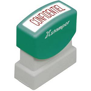 Timbre X-Stamper   Confidentiel  , rouge (212720)