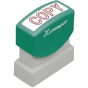 Wort-Stempel X-Stamper, Copy, rot