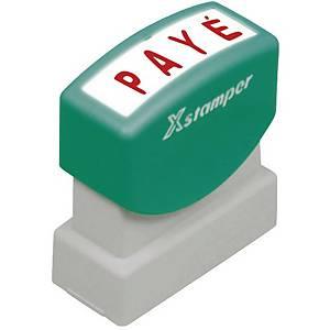 Wort-Stempel X-Stamper, Payé, rot