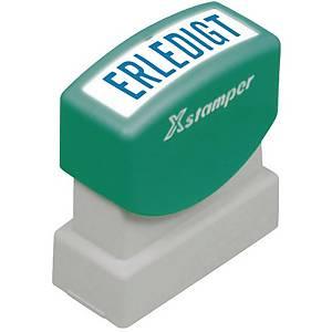 Wort-Stempel X-Stamper, Erledigt, blau