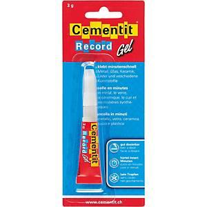 Colle-minute Cementit Record Gel, 3 g, permanente