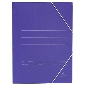Pasta com elásticos Mariola - fólio - cartão - azul