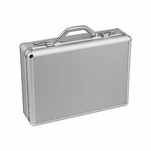 Akten-Koffer Monolith Alu, 49x13x33cm, silber