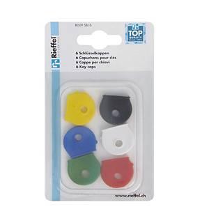 Couvre-clés type 8009 en plastique, assortie emb. de 6 pcs.