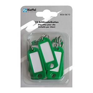 Étiquette à clés type 8034, vert, paq. 10unités