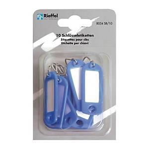 Étiquette à clés type 8034, bleu, paq. 10unités