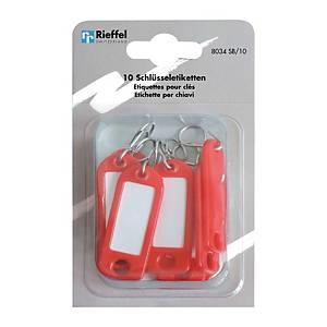 Étiquette à clés type 8034, rouge, paq. 10unités