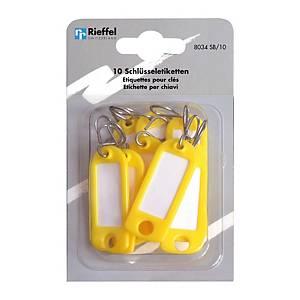 Étiquette à clés type 8034, jaune, paq. 10unités